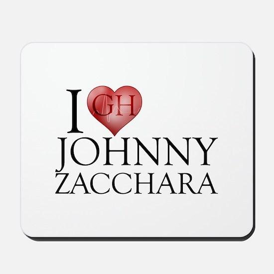 I Heart Johnny Zacchara Mousepad