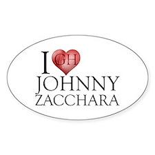 I Heart Johnny Zacchara Sticker (Oval)
