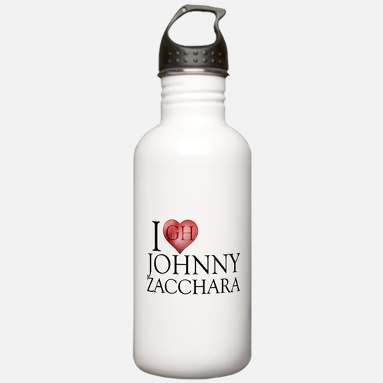 I Heart Johnny Zacchara Water Bottle