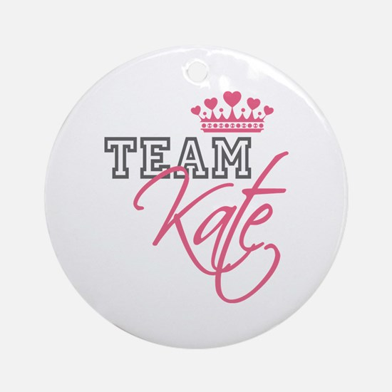 Team Kate Royal Crown Ornament (Round)