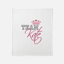 Team Kate Royal Crown Throw Blanket
