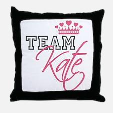 Team Kate Royal Crown Throw Pillow