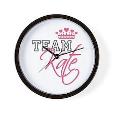 Team Kate Royal Crown Wall Clock