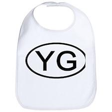 YG - Initial Oval Bib