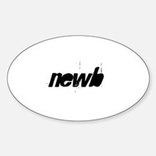 newb Oval Decal