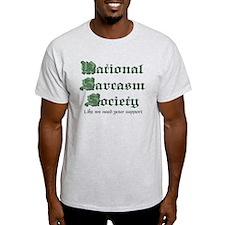National Sarcasm Society Ash Grey T-Shirt