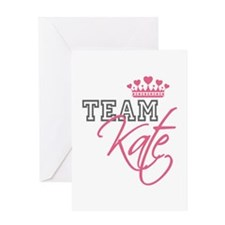 Team Kate Royal Crown Greeting Card