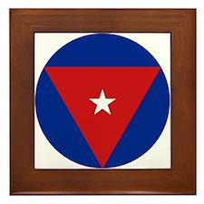 Cuba Roundel Framed Tile