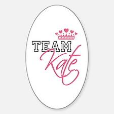 Team Kate Royal Crown Sticker (Oval)