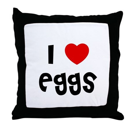I * Eggs Throw Pillow