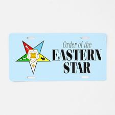 Eastern Star Aluminum License Plate