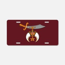 Shriner Aluminum License Plate