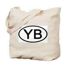 YB - Initial Oval Tote Bag