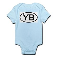 YB - Initial Oval Infant Creeper
