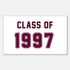 Class of 1997 Maroon Decal