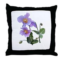 Lilac Poppy Throw Pillow