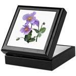 Lilac Poppy Keepsake Box