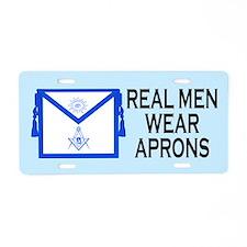 Real Men Wear Aprons Masonic License Plate