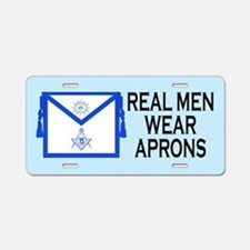 Real Men Wear Aprons Masonic License Plate