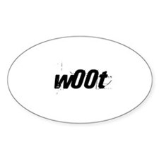 w00t Oval Decal