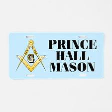 Prince Hall Mason Aluminum License Plate