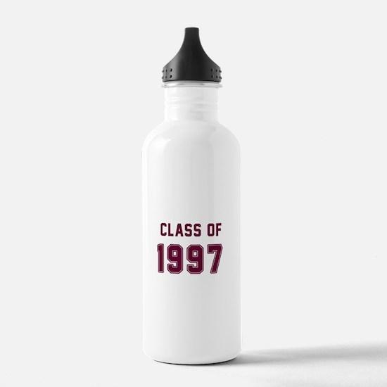 Class of 1997 Maroon Water Bottle