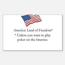 America, Land Of Freedom* Decal