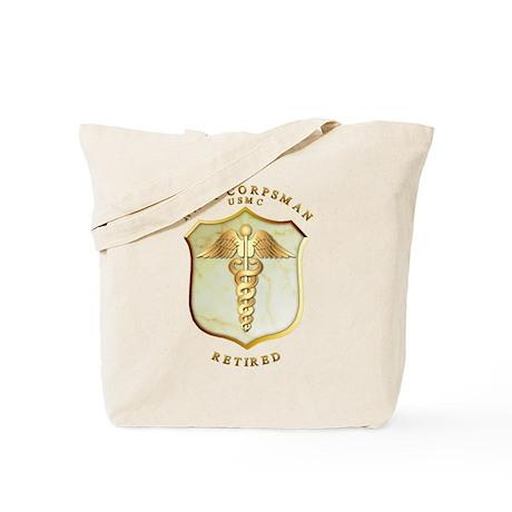 Corpsman USMC Retired Tote Bag