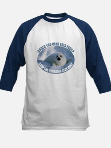 Canadian Seal Hunt Kids Baseball Jersey