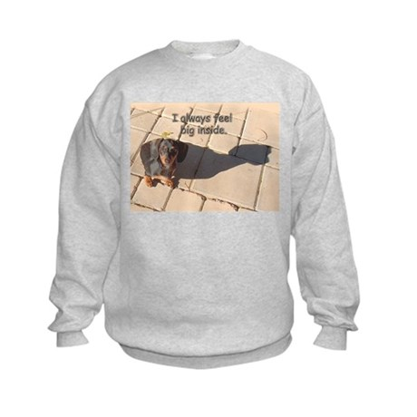 Big Inside Dachshund Dog Kids Sweatshirt