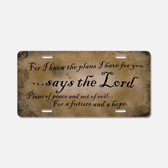 Jeremiah 29:11 Aluminum License Plate