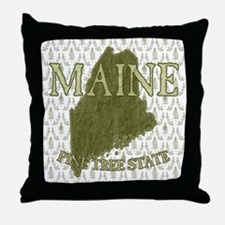 Pine Tree State Throw Pillow