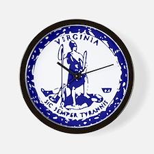 Blue Virginia Seal Wall Clock