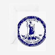 Blue Virginia Seal Greeting Cards (Pk of 10)