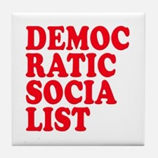 Democratic Socialist Tile Coaster