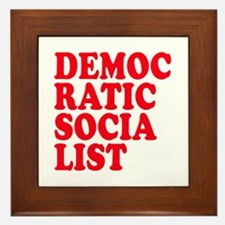 Democratic Socialist Framed Tile