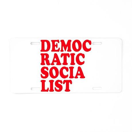 Democratic Socialist Aluminum License Plate