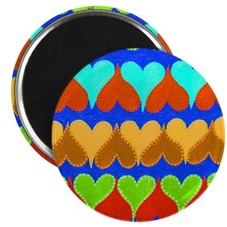 Floating Hearts Blue Magnet