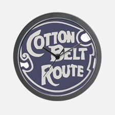 Cotton Belt Railway logo Wall Clock