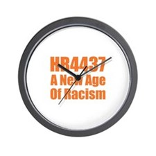 HR4437 Racism Wall Clock