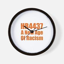HR4437 Racism Wall Clock