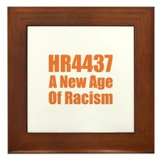 HR4437 Racism Framed Tile