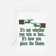 It's not whether you win or l Greeting Card