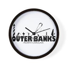 OBX Watersports Wall Clock