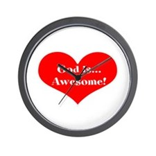 God is Awesome! Heart, Wall Clock