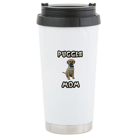Puggle Mom Stainless Steel Travel Mug