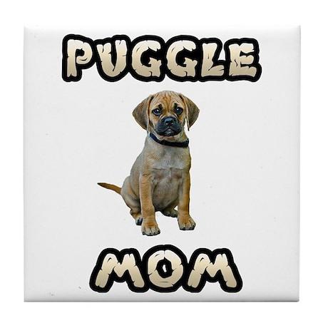 Puggle Mom Tile Coaster