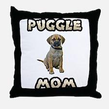 Puggle Mom Throw Pillow