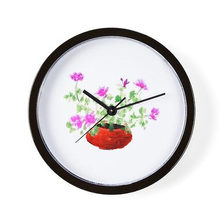 Lavender Basket Wall Clock