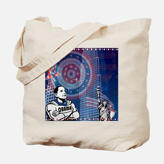 Super Obama - Patriotic Tote Bag